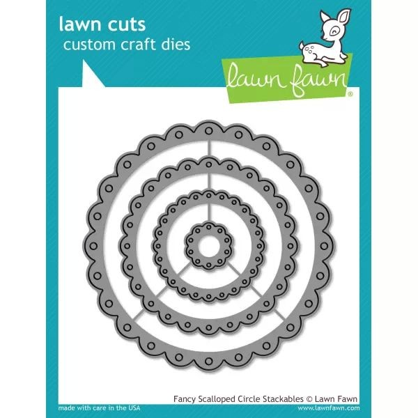 Lawn Fawn Cuts Fancy Scalloped Circle Stackables