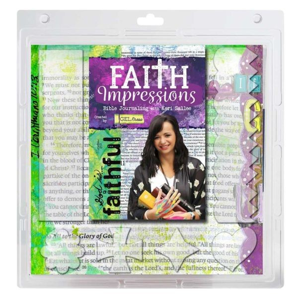 Gel Press Faith Impressions Gel Plates & Devotional Kit