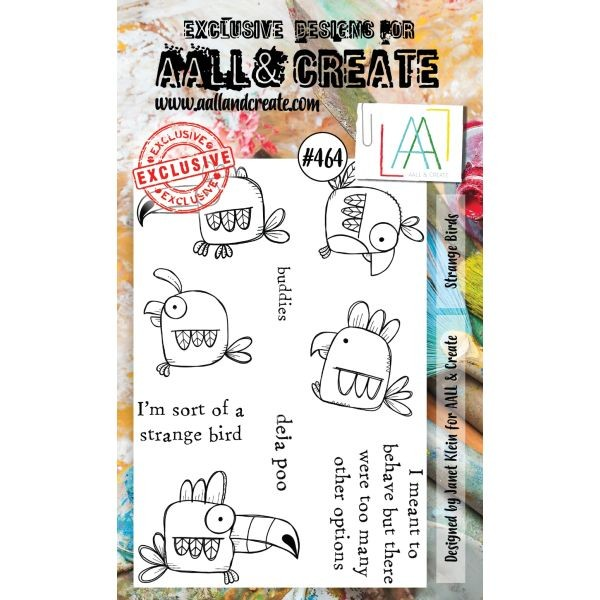 AALL & Create Clearstamps A6 No. 464 Strange Birds