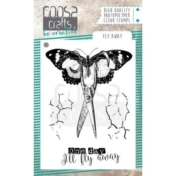 Coosa Crafts Clearstamps A7 Fly Away
