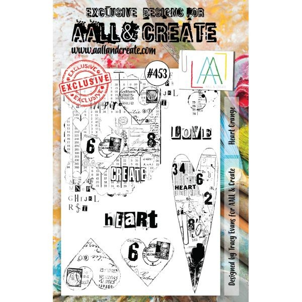 AALL & Create Clearstamps A5 No. 453 Heart Grunge