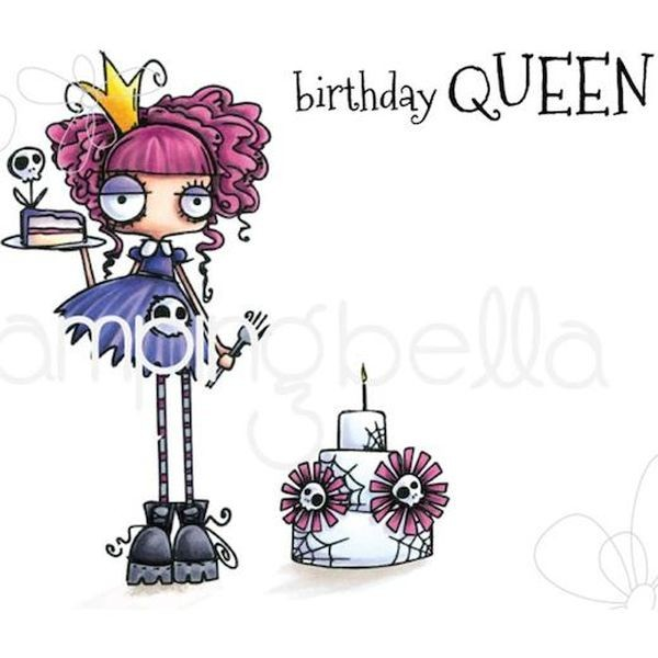 Stamping Bella Clingstamps Oddball Birthday Queen