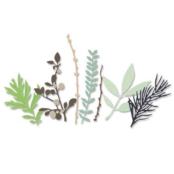 Sizzix Thinlits Die Hidden Leaves