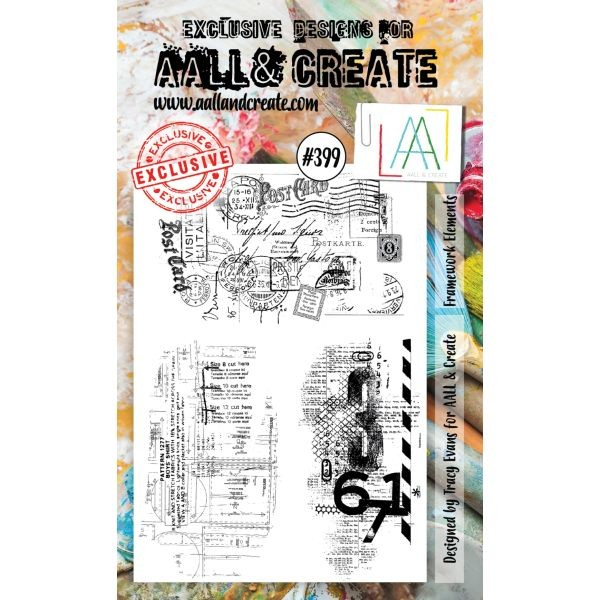 AALL & Create Clearstamps A6 No. 399 Framework Elements