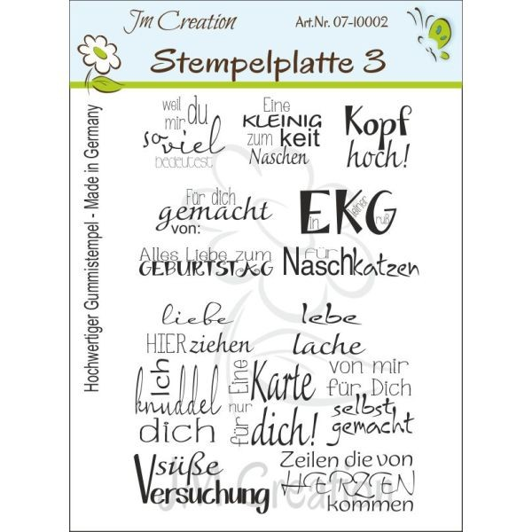 JM Creation Stempelplatte Nr. 3