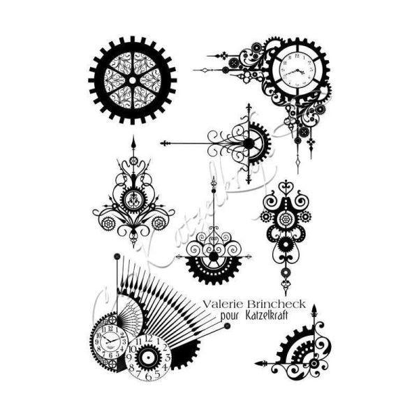 Katzelkraft Tampon A5 Steampunk Swirl