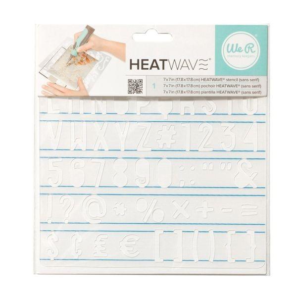 WeR Memory Keepers Heatwave Stencil Sans Serif