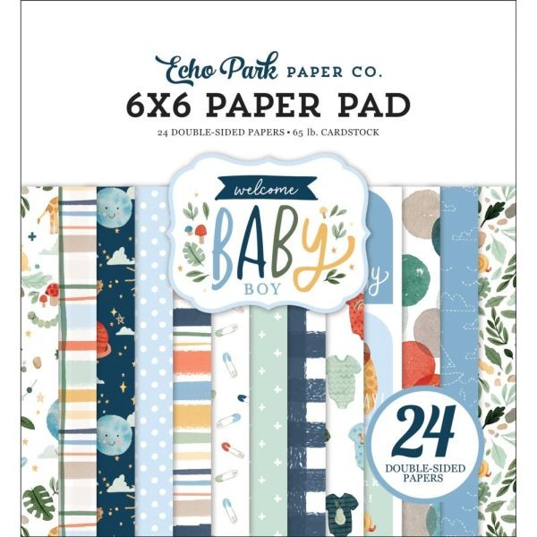 Echo Park Welcome Baby Boy Paper Pad