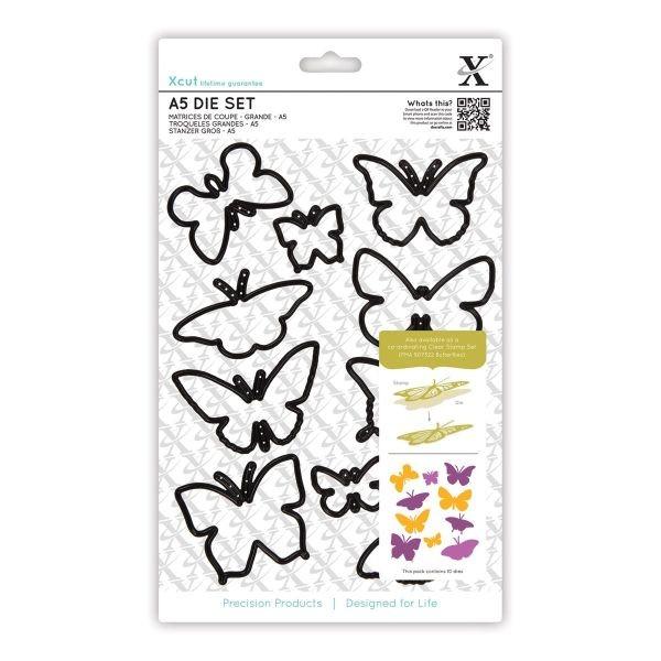 XCut A5 Bundle Stamp & Die-Set Butterflies