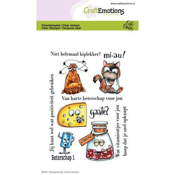 Craft Emotions Clearstamps Beterschap I