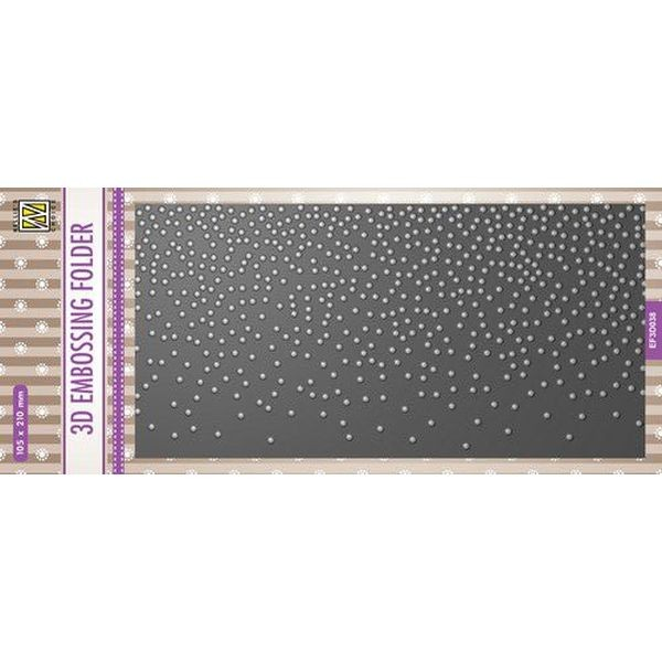 Nellie´s Choice 3-D Slimline Embossingfolder Snow