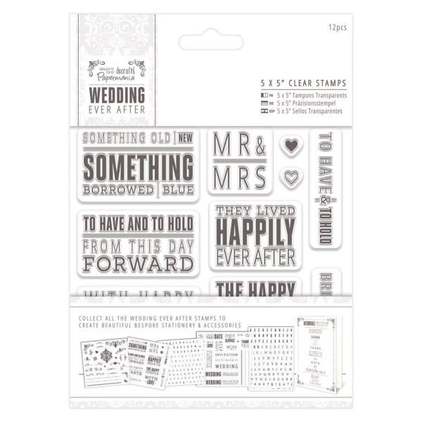 Wedding Ever After Clearstamps 5x5 Topper Sentiment