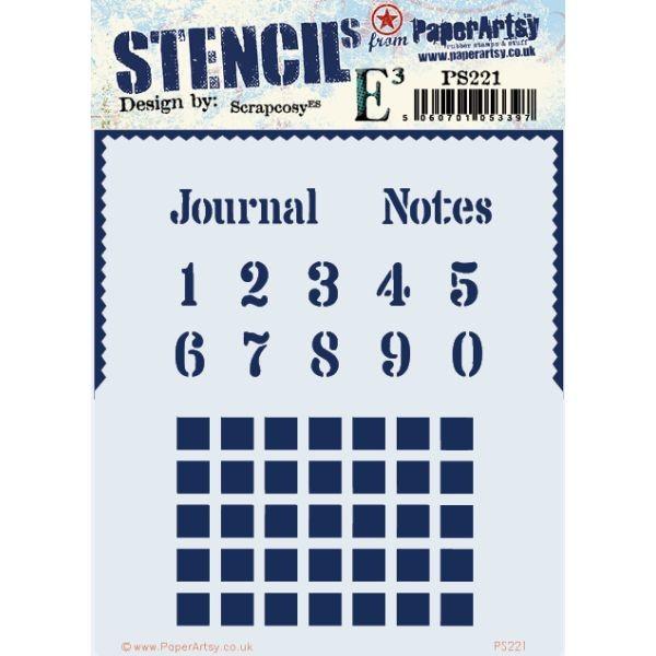 Paper Artsy Stencil 221 by Scrapcosy