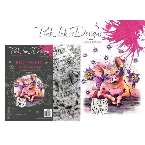 Pink Ink Designs Clearstamp Set Pigtastic