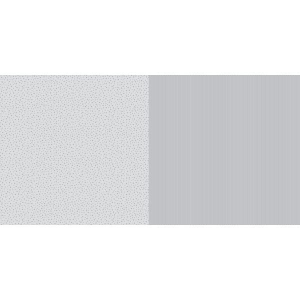 Dini Design Scrapbook-Papier Sterne & Streifen Steingrau