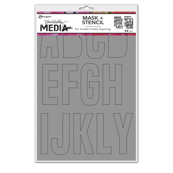 Dina Wakley Media Stencil & Masks Alpha