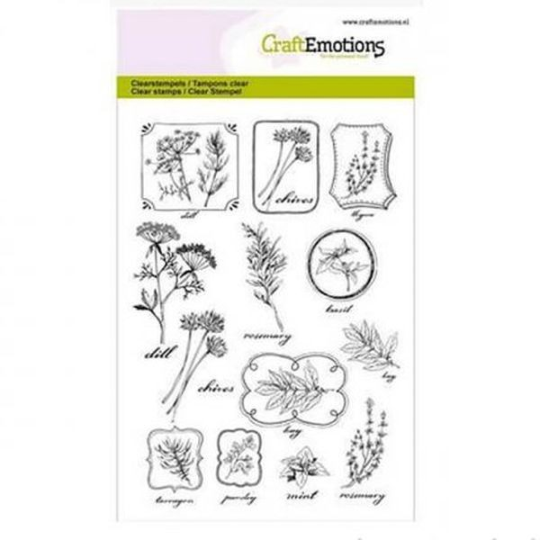 Craft Emotions Clearstamps Herbal Labels