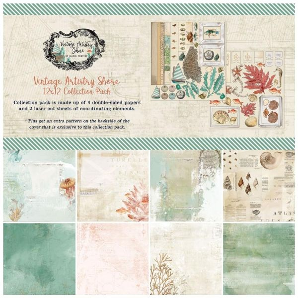 49 and Market Vintage Artistry Shore Collection Pack 12x12