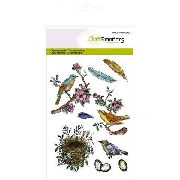 Craft Emotions Clearstamps Birds, Feathers, Eggs