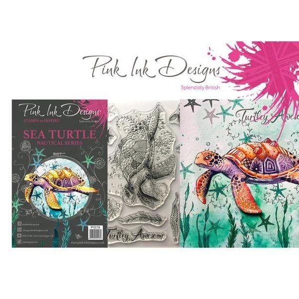 Pink Ink Designs Clearstamp Set Sea Turtle