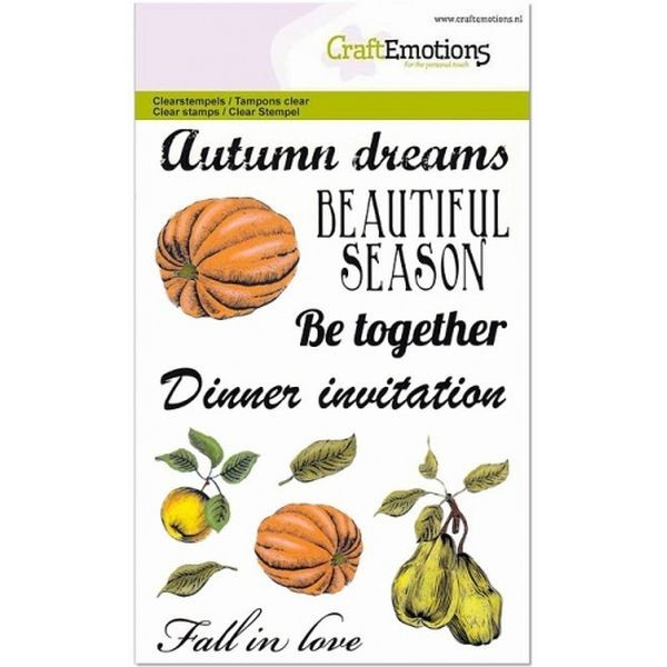 Craft Emotions Clearstamps Pumpkin, Apple, Pear
