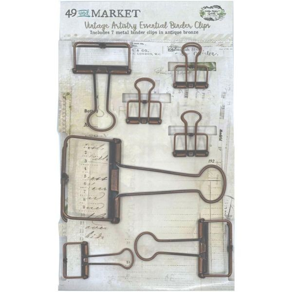 49 and Market Foundations Binder Clips Antique Bronze