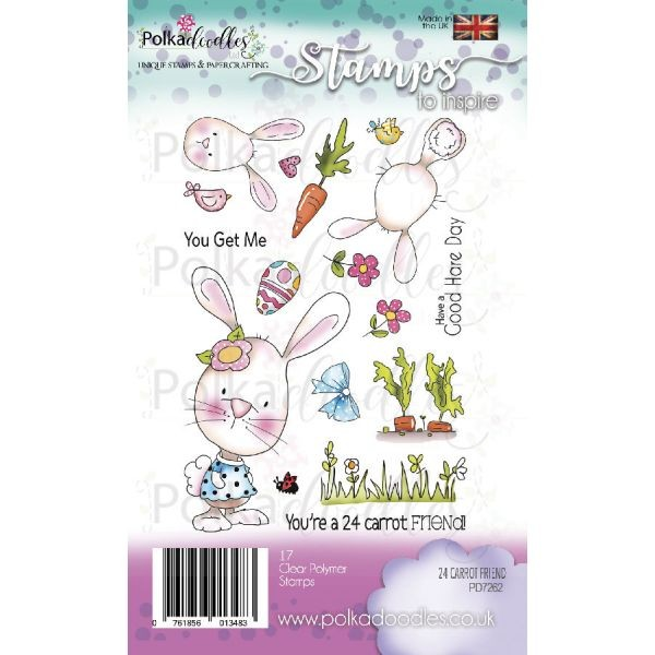 Polkadoodles Clearstamps 24 Carrot Friends Bunny Rabbit