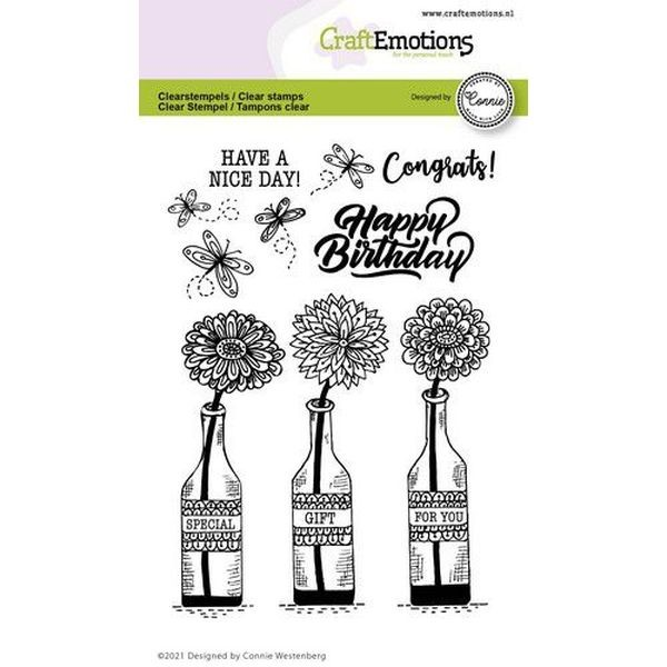 Craft Emotions Clearstamps Special Gift for You Bottles