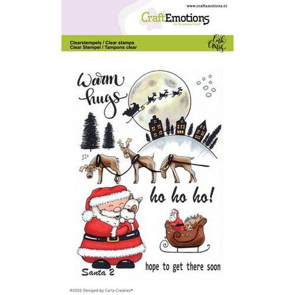 Craft Emotions Clearstamps Santa II