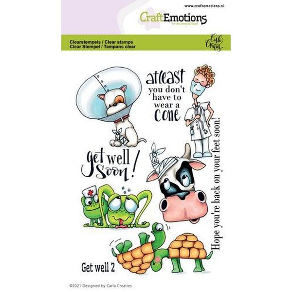 Craft Emotions Clearstamps Get Well II