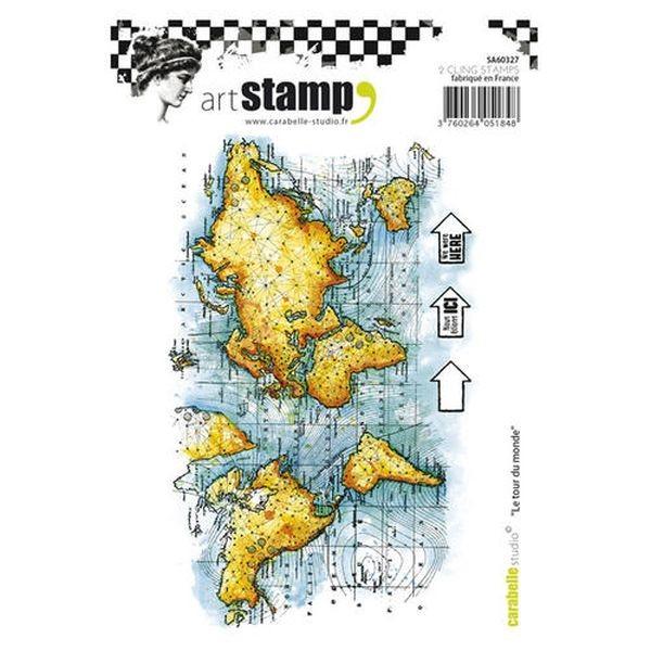 Carabelle Studio Tampon Art Stamp A6 Le Tour du Monde