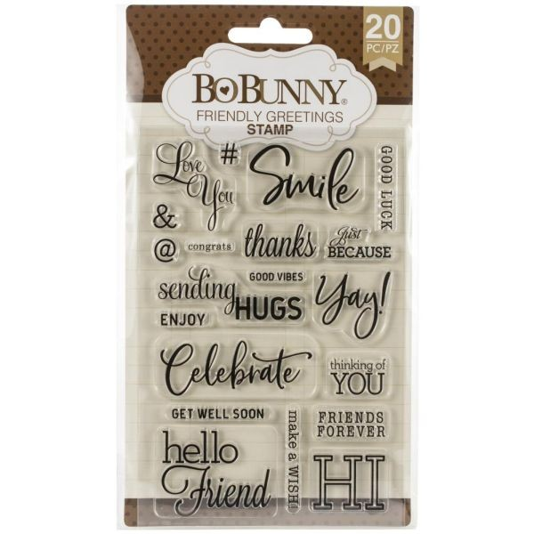 BoBunny Press Essentials Stamps Friendly Greetings