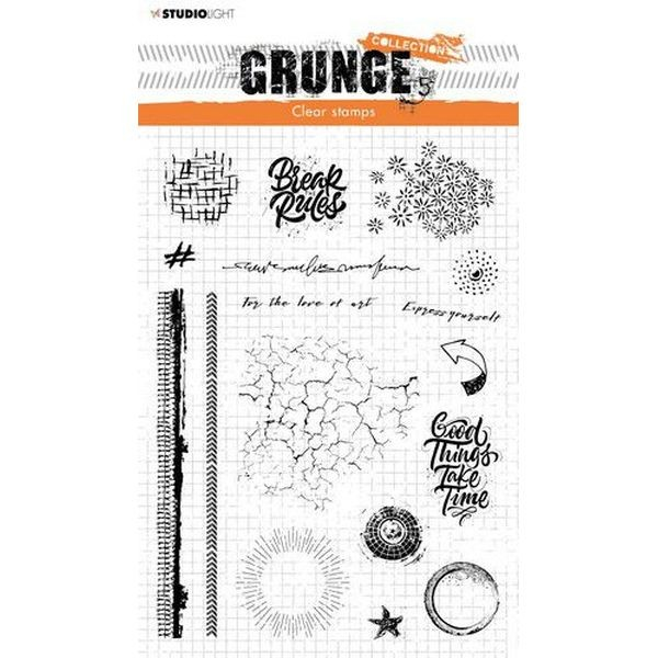 Studio Light Grunge Collection Clearstamps A5 No. 502