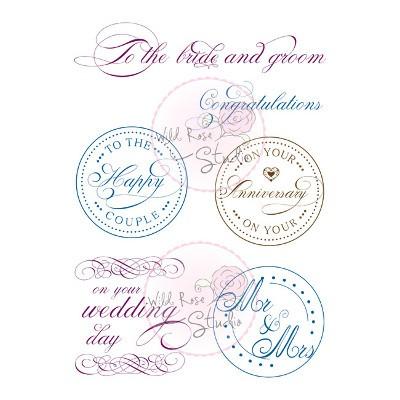 Wild Rose Studio Clearstamps Wedding Circles