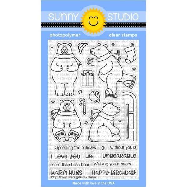 Sunny Studio Stamps Bundle Playful Polar Bears