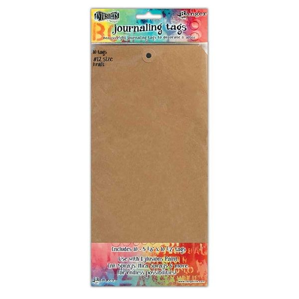 Dylusions Journaling Tags #12 Kraft