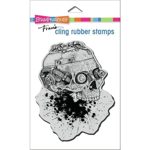 Stampendous Fran´s Clingstamps Steampunk Skull