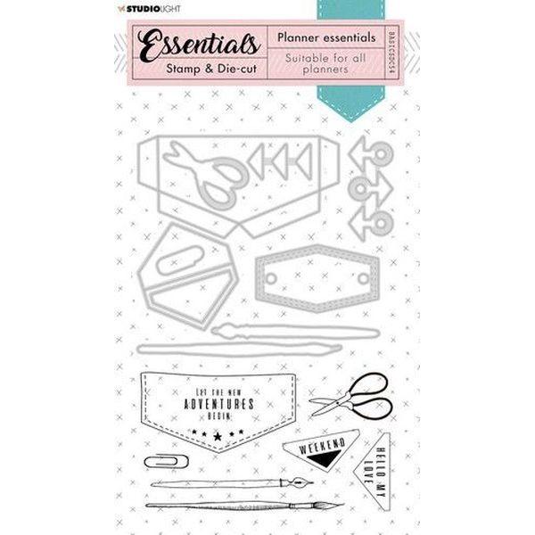 Studio Light Stamp & Die-Cut Planner Essentials No. 54 Jeans