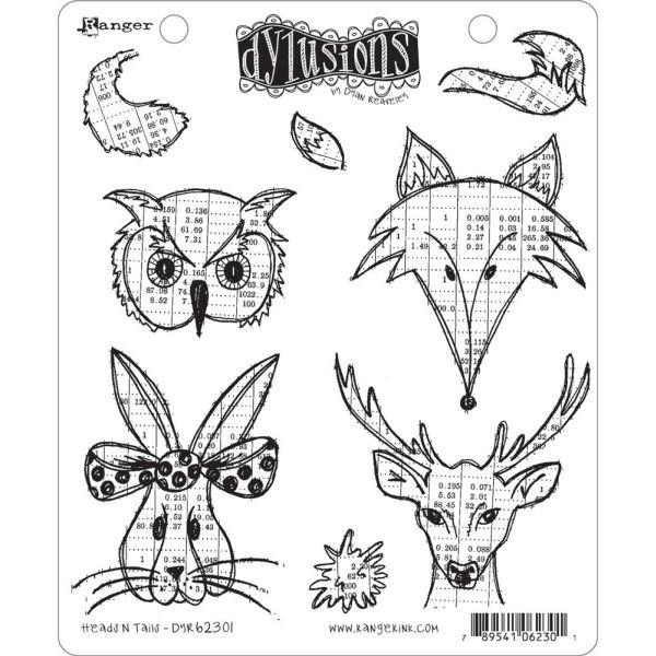 Dylusions Clingstamps Heads in Tails