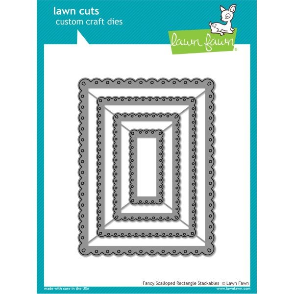 Lawn Fawn Cuts Fancy Scalloped Rectangle Stackables