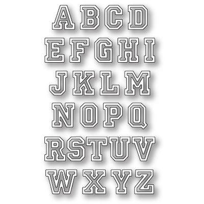 Memory Box Die Varsity Uppercase Alphabet