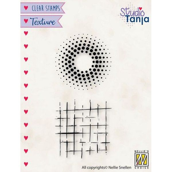 Nellie´s Choice Texture Clearstamp Dots & Squares