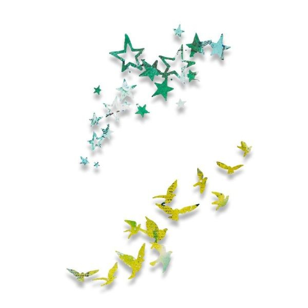 Sizzix Thinlits Die Birds & Stars