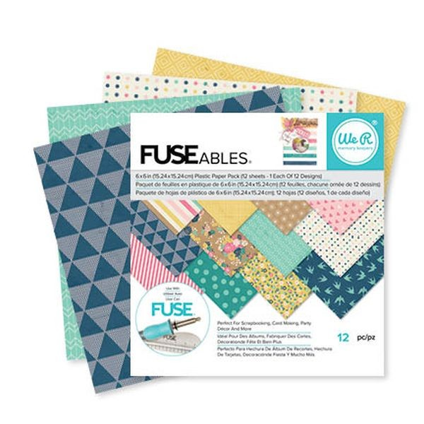 WeR Memory Keepers FUSEables Plastic Paper Pack 6x6