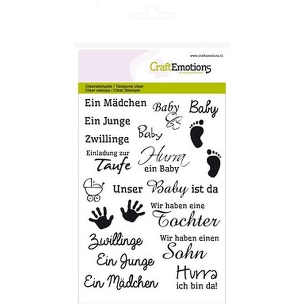 Craft Emotions Clearstamps Texte DE Baby