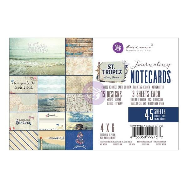 Prima Marketing St. Tropez Journaling Cards 4x6