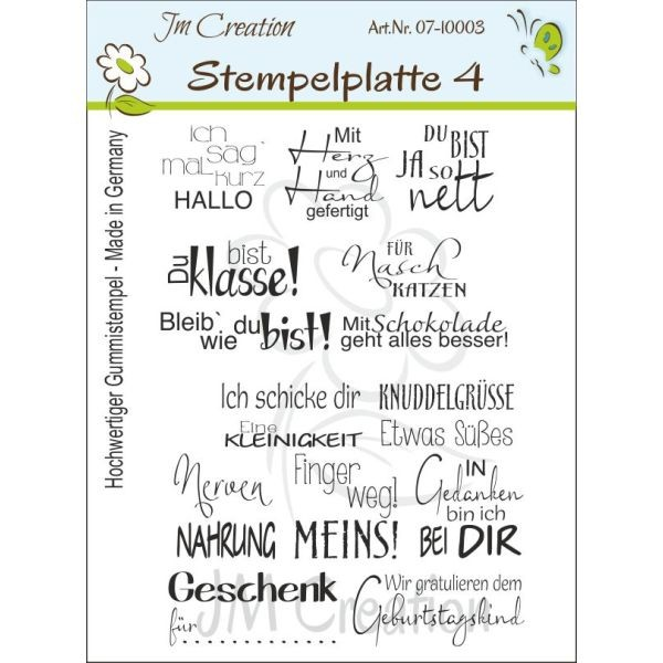 JM Creation Stempelplatte Nr. 4