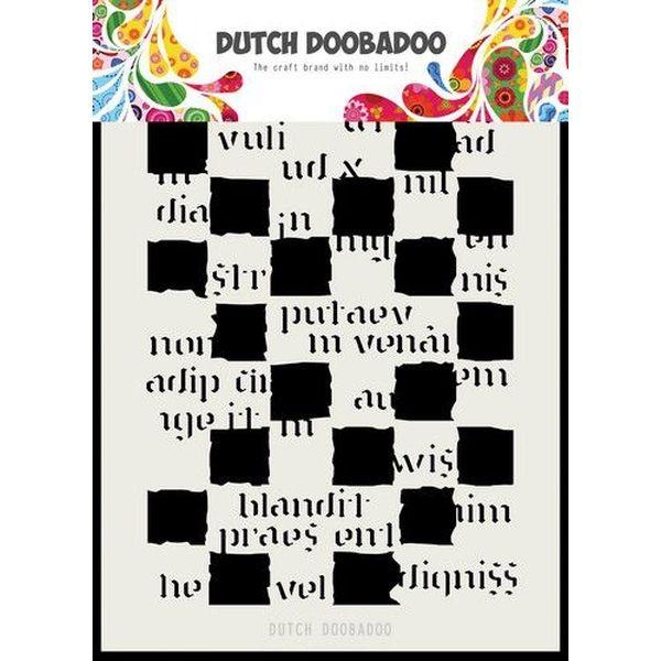 Dutch Doobadoo Mask Stencil A5 Script Blocks