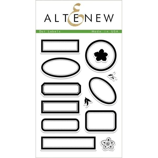 Altenew Clearstamps 4x6 Dot Labels