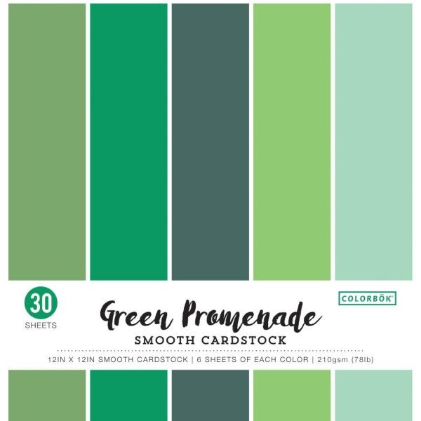 Colorbök Smooth Cardstock 12x12 Green Promenade
